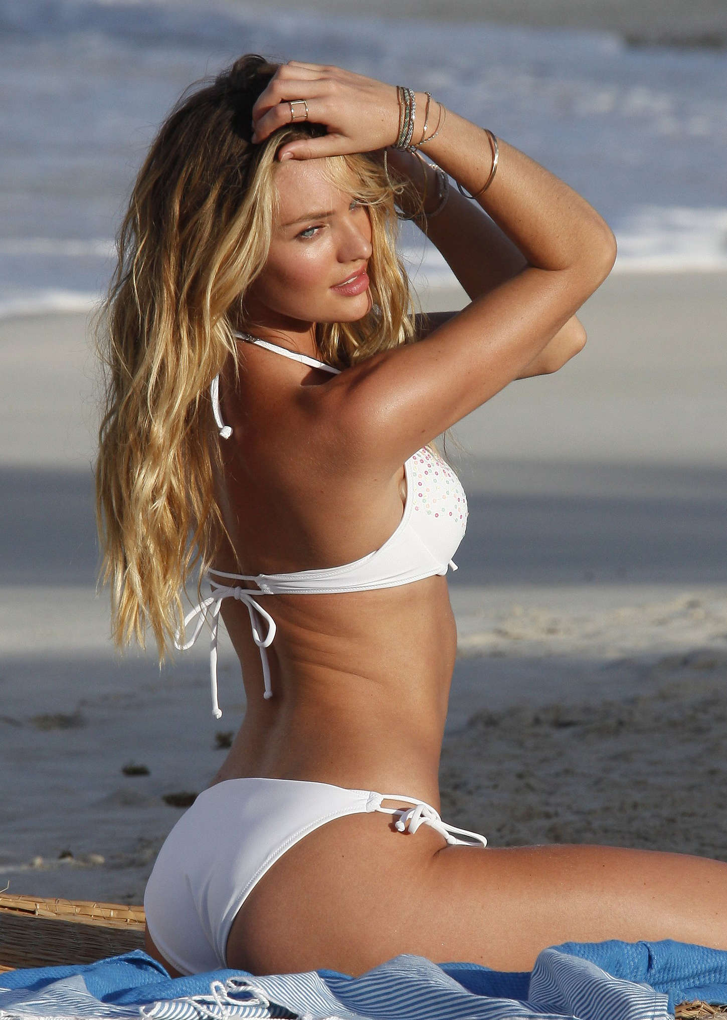 Candice Swanepoel In White Bikini 2013 VS Photoshoot