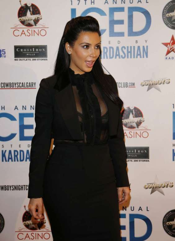 Kim Kardashian at Cowboys Iced event -05