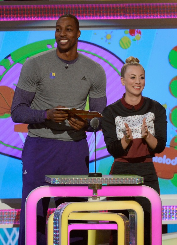 Kaley Cuoco & Dwight Howard-Nickelodeon's 26th Annual Kids' Choice Awards, USC Galen Center, Los Angeles, 03/23/2013