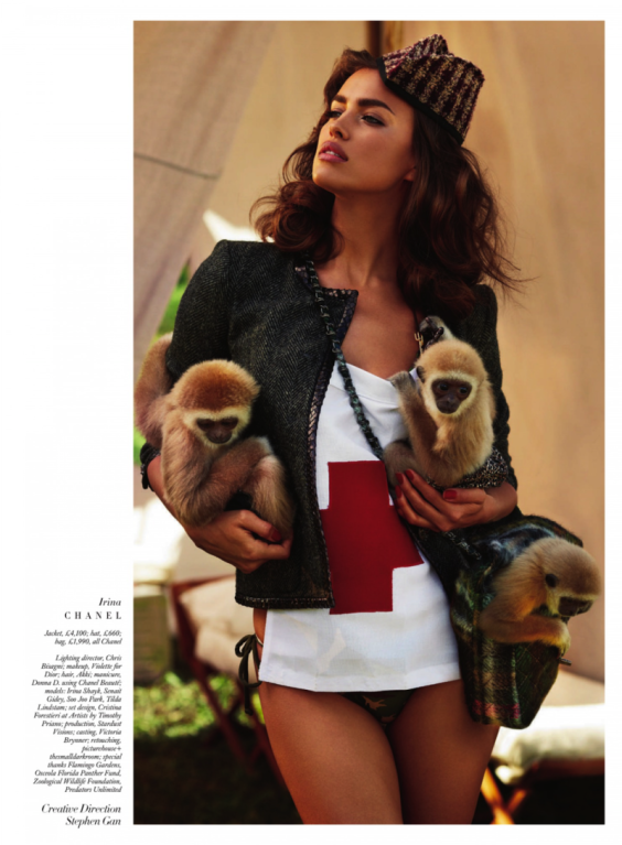 Irina-Shayk---Harpers-Bazaar-The-Animal-Nursery-Photoshoot-2013--06