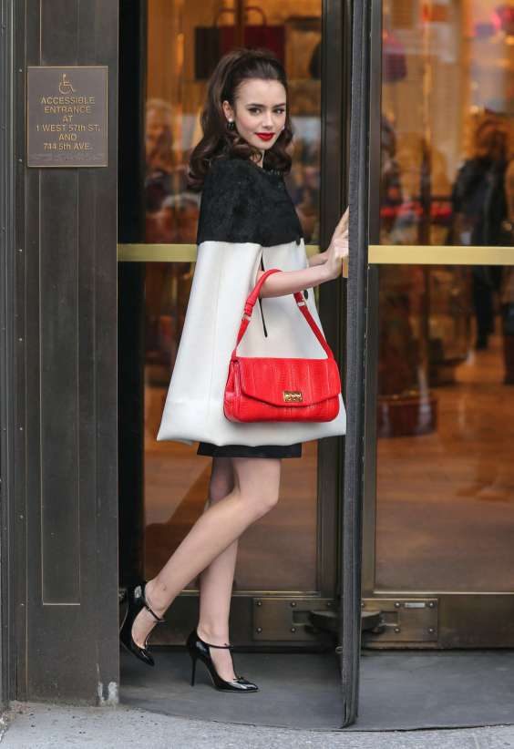 Lily-Collins---Bergdorf-Goodman-Store-Photoshoot-in-New-York--01