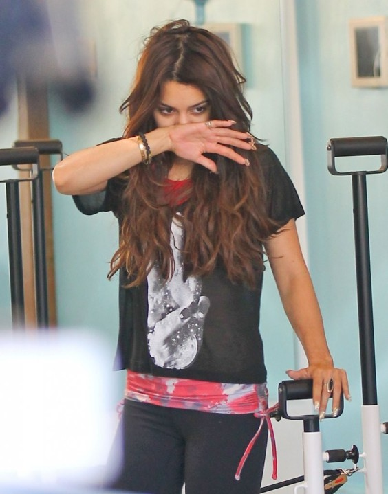 Vanessa Hudgens Practices Pilates in LA