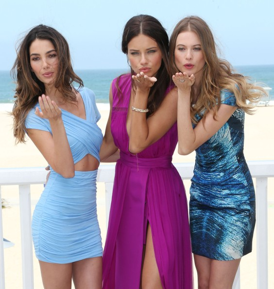 Adriana-Lima---Behati-Prinsloo-and-Lily-Aldridge---2013-Pink-Carpet-Party-on-the-Beach-in-Santa-Monica--01