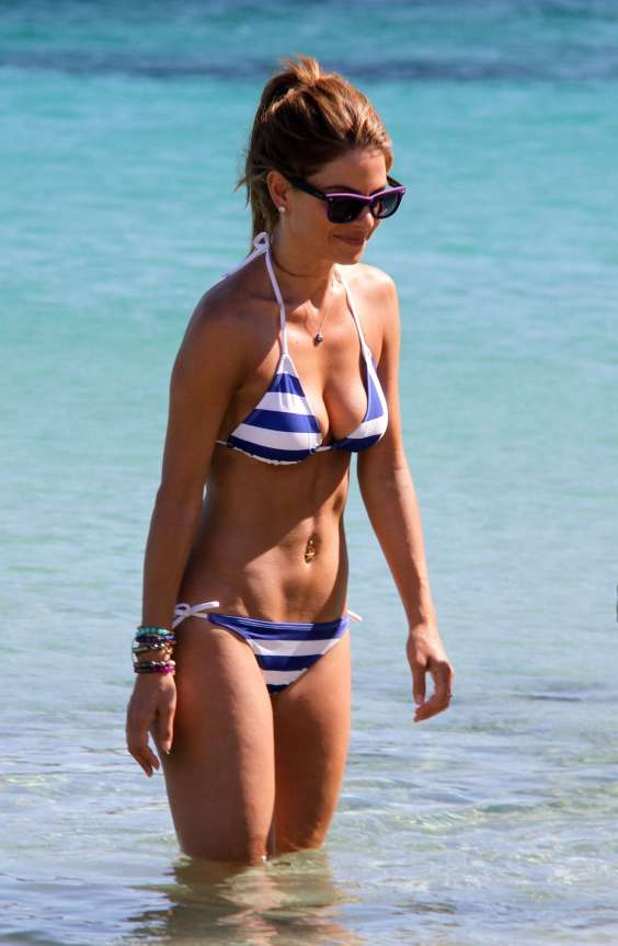 Maria-Menounos-in-Greek-Flag-Bikini--17